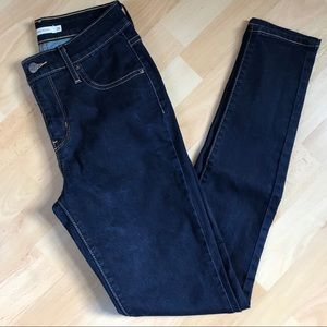 Levi's 721 High Rise Skinny Dark Wash Jeans
